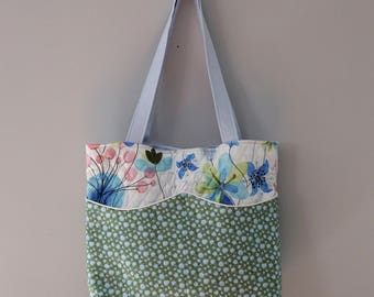 Market Tote: Large Quilted Tote Bag