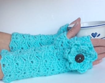 Crochet Shell Fingerless Gloves - Pattern Only/Crochet Fingerless Gloves Pattern/Crochet Texting Gloves Pattern/Crochet Gift to Make