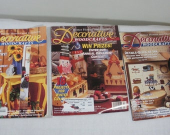 Lot of 3 BH&G Decorative Woodcrafts Painting Magazines