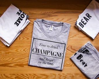 Champagne shirt / Champagne shirts / Brunch shirt / Brunch shirts / Brunch shirt women / Funny brunch shirts / Drinking shirt