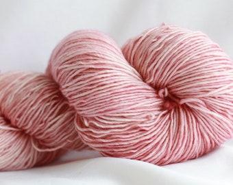 BLUSH - Tonal dyed super wash merino single ply 100 grams  (400 yds) free shipping