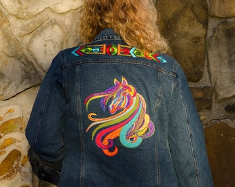 Abstract Tribal Art Horse Jacket