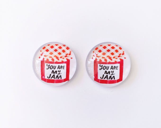 The 'Jam' Glass Earring Studs