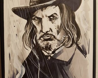 Vincent Price, Witchfinder General Original A5 Sketch