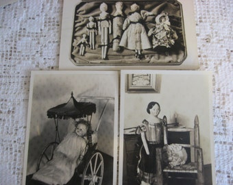 Vintage Post Cards,Photo Cards,Vintage Antique Dolls,Dollhouse Photo,Edna Knowles King