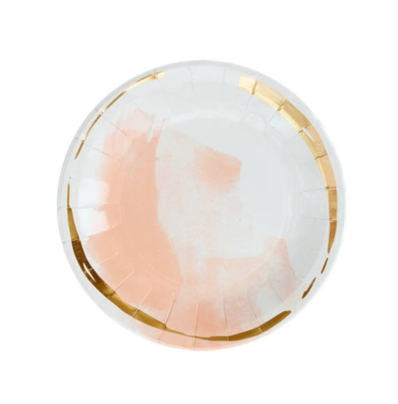 Coral Blush Paper Plates Gold Party Plates Peach Paper Plates PartyTableware Wedding Paper Plates Bridal Shower Plates Paper Plates from PrimAndParty ...  sc 1 st  Etsy Studio & Coral Blush Paper Plates Gold Party Plates Peach Paper Plates ...