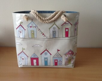 Oilcloth beach bag/ picnic bag/ holiday bag / shopper