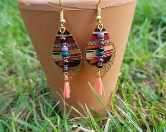 Summer color earrings