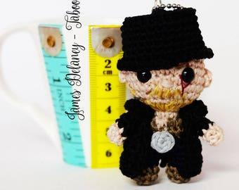 James Delaney keychain amigurumi crochet doll Tom Hardy from Taboo