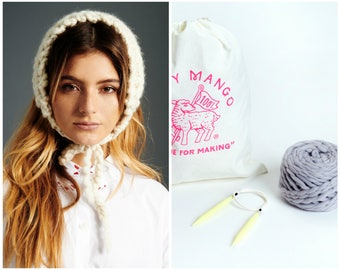 Loopy Mango DIY Kit - Bonnet - Chunky Merino Wool