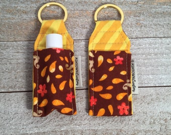 Lip Balm Holder   Floral Burst with Yellow