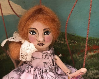 Marionette Theatre with Handmade Art Doll and accesories