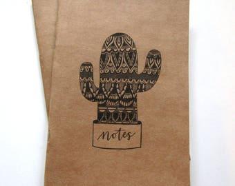 Mandala cactus journal/notebook/notepad A5