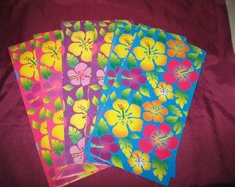 Tropische Hibiscus Blume Geschenk Papiertüte Paket