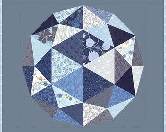 Globe quilt pattern by Bridgitte Heitland of Zen Chic