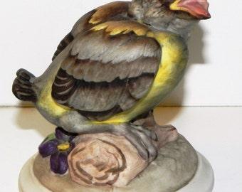 Vintage Boehm Baby Goldfinch Bird Figurine Porcelain