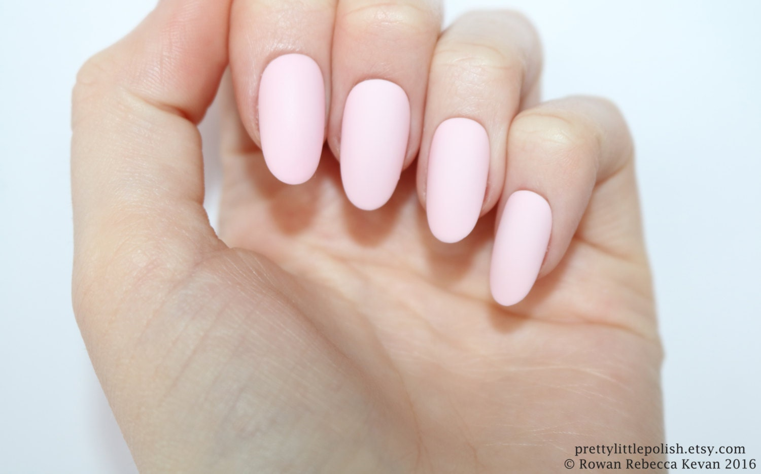 Matte pastel pink oval nails Nail designs Nail art Nails