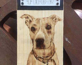 Custom Pet Woodburning from a picture