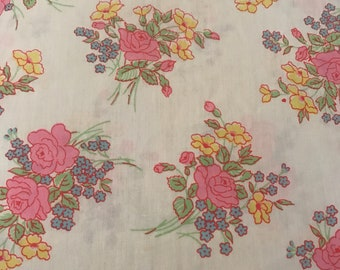 Vintage Floral Pillowcase Pink Roses Shabby Chic