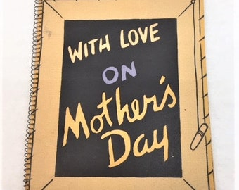 Vintage 12 page Mother's Day Card with Spiral Binding