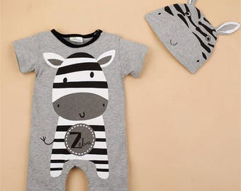 Baby Boy/Girl Zebra Romper/Jumpsuit