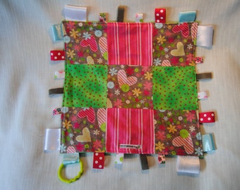 Spring Hearts Taggie Blankie