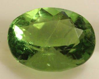 Fluorite Green 1.459cts Oval Cut 8.15 x 6.17mm H4 Belgium y9378 Green Gem Loose Faceted Gemstone Collector Gemology Gemological