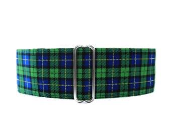Plaid Martingale Collar, Plaid Dog Collar, 1.5 Inch Martingale Collar, Green Martingale Collar, Dog Collar for Boys, Martingales for Boys