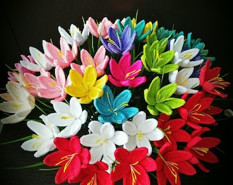 Beautiful Rain lily Crochet  flowering Crochet Thailand Rain lily wonderful Handmade
