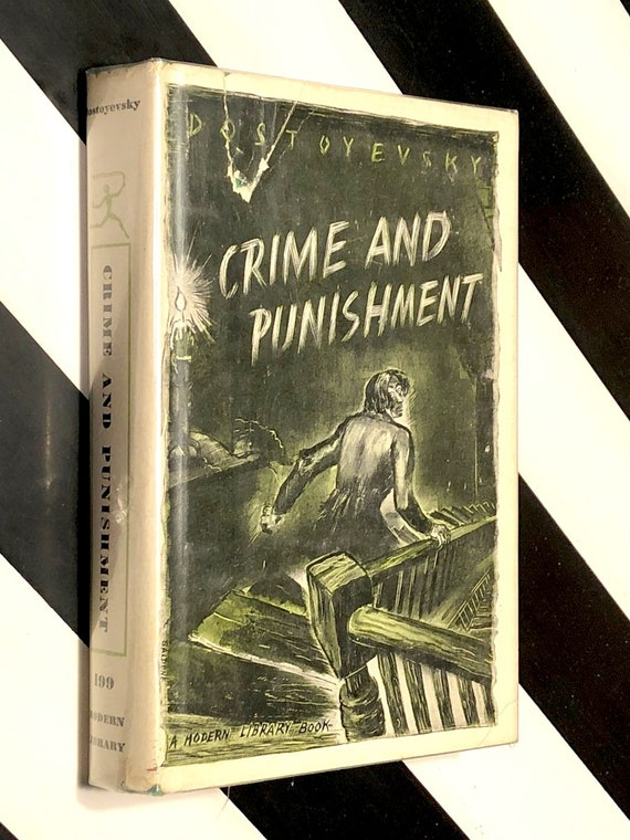 Crime and Punishment by Fyodor Dostoyevsky (1950) Modern Library hardcover book