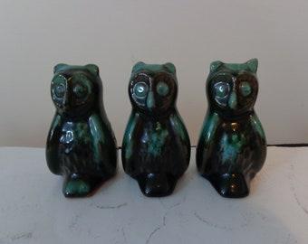 Vintage Blue Mountain Pottery Owls, Vintage Owl Blue Mountain Pottery, Vintage Pottery Owls, Vintage Owls. Pottery Owls, Owl Decor, Ceramic