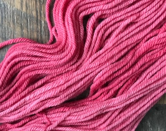 Hand Dyed Yarn- Bulky Weight- Wool and Alpaca-Watermelon Fizz