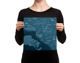 Canvas print of the city of San Diego, California,