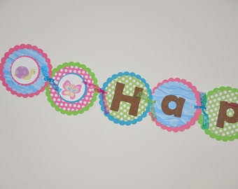 Bug Banner. Bug Party.  Insect Banner. Happy Birthday Banner. Choose boy or girl