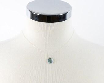 Blue Topaz Necklace, Sky Blue Topaz Delicate Necklace