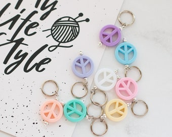 Stitch Markers, Set of 8 pacific Stitch Markers Knitting markers Gift for Knitter Progress Keeper Crochet Notions Knitting Notions Yarn Gift