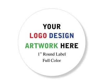 """Custom Professional Company Business Logo Design Labels Stickers 1"""" round"""