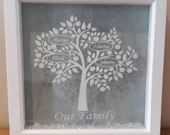Family Tree frame, personalised family frame, tree frame