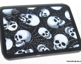 Talking Heads Skulls Magnetic Board, Heads Magnet Board, Halloween Magnet Bulletin Board, Halloween Decor