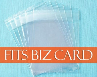 200-Pack 2 1/2 x 3 1/2 Business Card Size Resealable Cello Bags, 1.6 mil poly