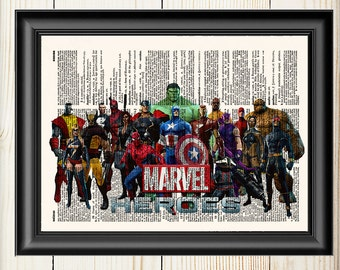 Marvel Wall Art, Avengers, Thor, Captain America, Hulk, Iron Man,