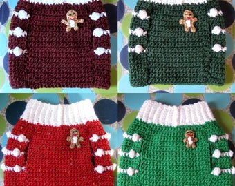 M or M+ Custom Ginger Snap Dog Sweater Vest - Choose your favorite color - Made to Order