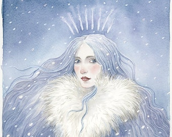 The Snow Queen - Limited Edition Hand Embellished Giclee Print