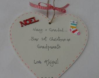 1st Christmas as grandparents christmas decoration 15cm