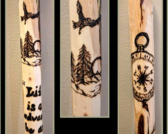 Scoutmaster gift - scout leader gift -Troop leader gift - Retirement gift  - hiking stick-wood anniversary