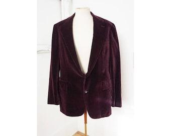 Vintage Purple Velvet Jacket Ralph Lauren NWT Men Sz 42