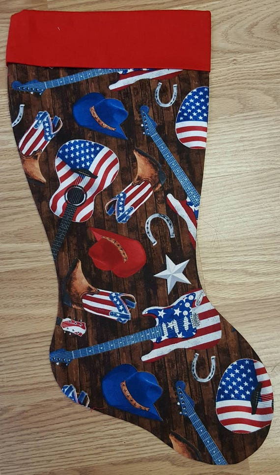 Country Music  Christmas Stocking