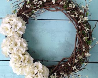 Spring Door Wreath, Front Door Wreath, Spring Wreath, Summer Door Wreath, Door Wreath, Wedding Wreath, Wreath For Door, Home Decor