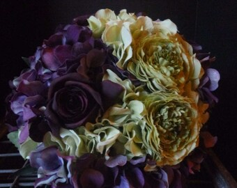 Purple Vintage Hadmade  Bridal Bouquet