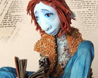 One of a kind art doll Kaspar the Bohemian Poet